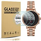 Diruite 3-Pack for Fossil Q Venture HR Screen Protector Tempered Glass for Fossil Q Venture Gen 4 Smartwatch [2.5D 9H Hardness][Anti-Scratch][Optimized Fit Version]