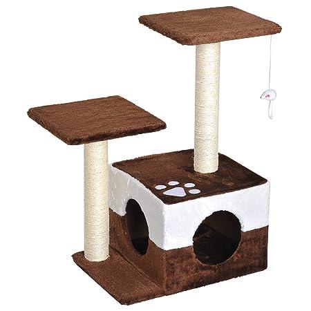 PawHut Rascador para Gatos Árbol Rascador Centro de Actividad ...