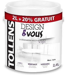 Tollens 3t22662 Peinture Idrotop Satine Blanc 15l Amazonfr Bricolage