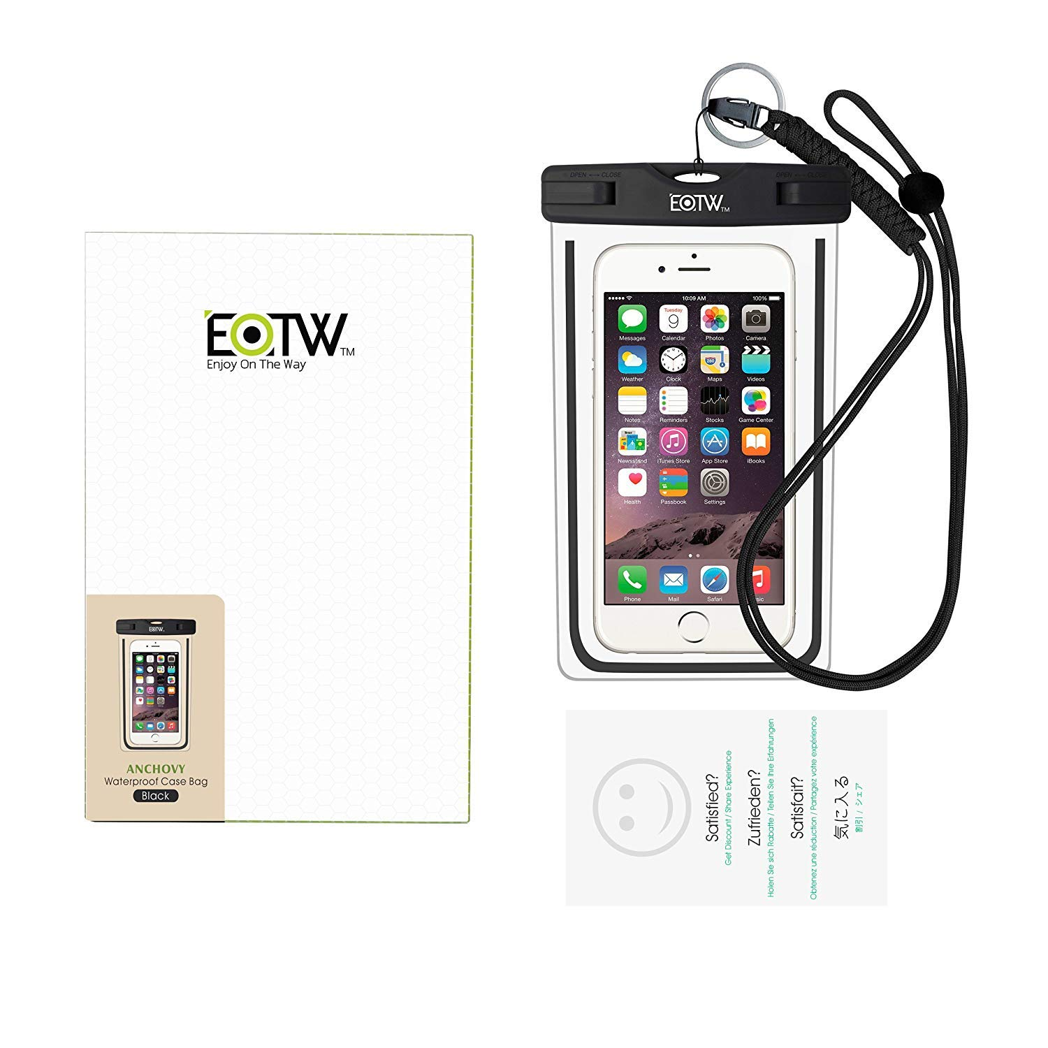 EOTW 2 Pack IPX8 Universal Waterproof Case for Smartphone Device to 6'' Fit iPhone X/8/8plus 7plus/6plus Samsung Galaxy s8/s8plus/s7 Google Pixel HTC10,for Water Parks/Beach/Cruise/Pools snorkeling by EOTW (Image #7)