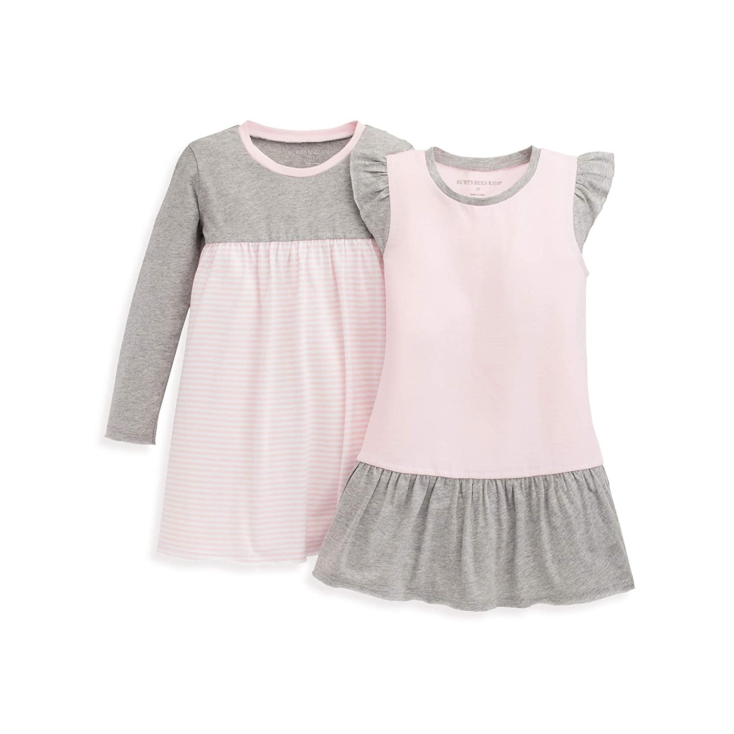 Burts Bees Baby Baby Girls Dress Short /& Long-Sleeve Infant /& Toddler 100/% Organic Cotton