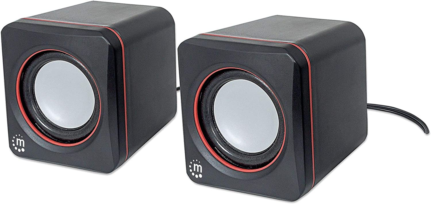 MANHATTAN 2600 Series USB Speaker System (161435),Black,2