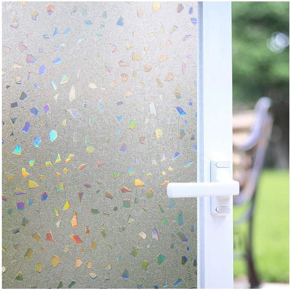 Film Vitrage Opaque,Clear-45/×100cm//17/×39in Bluting 3D Film de Vitre Fen/être Auto-adh/ésif Electrostatique Prot/ége,Film Fenetre Salle de Bain Occultant D/époli
