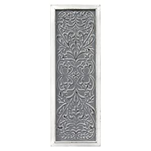 Stratton Home Decor -- Dropship, us home, SUHQX Stratton Home Decor Metal Embossed Panel Wall Décor, Distressed White, Grey