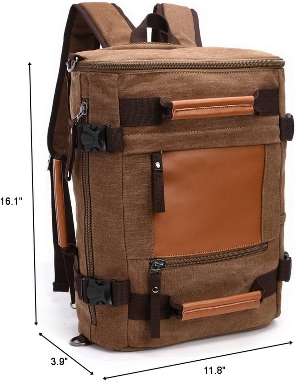 mu8536 Canvas Backpack Coffee M.G