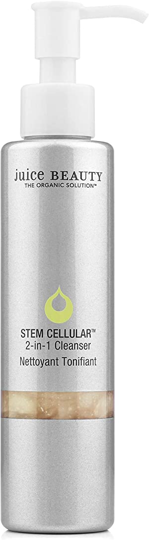 Juice Beauty Stem Cellular 2-in-1 Cleanser Gentle Hydrating Face Wash, Daily Facial Cleansing and Makeup Removal, Grapefruit, 4.5 Fl Oz