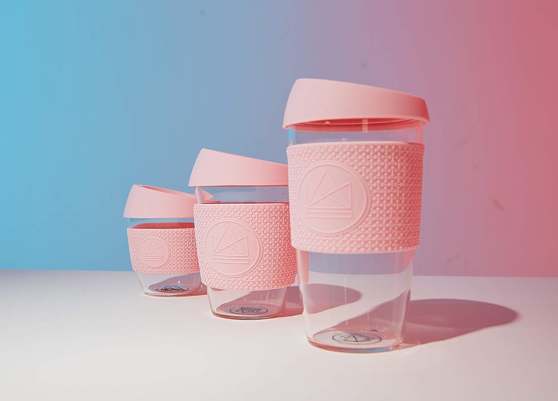 Rosa Tazza da caff/è Riutilizzabile in Vetro 8oz Neon Kactus