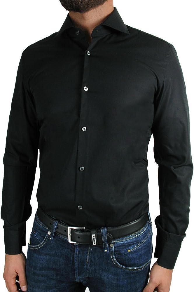 Hugo Boss - Camisa Formal - Normal - para Hombre Negro X-Large: Amazon.es: Ropa y accesorios