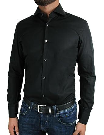 bf278f8f9469f Hugo Boss - Camisa Formal - Normal - para Hombre Negro Small  Amazon.es   Ropa y accesorios
