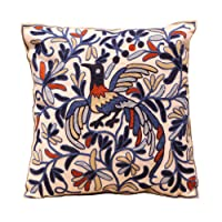 Bohemia Exotic Embroidery Decorative Pillow Cover 18x18 - Exquisite Handmade Cotton...