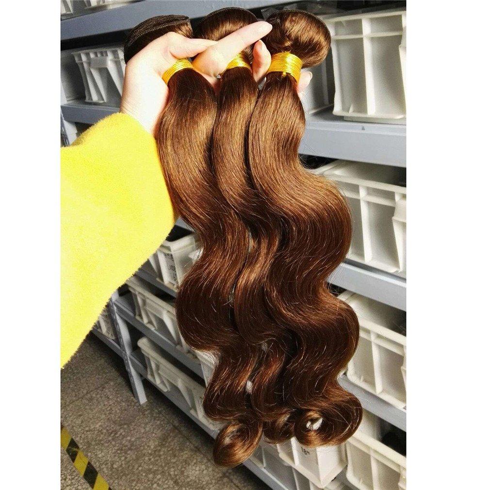 Amazon Human Hair Extension Babe Hair 4 Bundles Brown 4