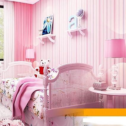 QIHANG Mediterranean-style Striped Bedroom Wallpaper Background ...