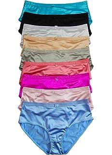 2dc7681d09 Iheyi Plus Size LOT 1 6 12 Women Smooth Quality Satin Bikini Panty 2XL 3XL