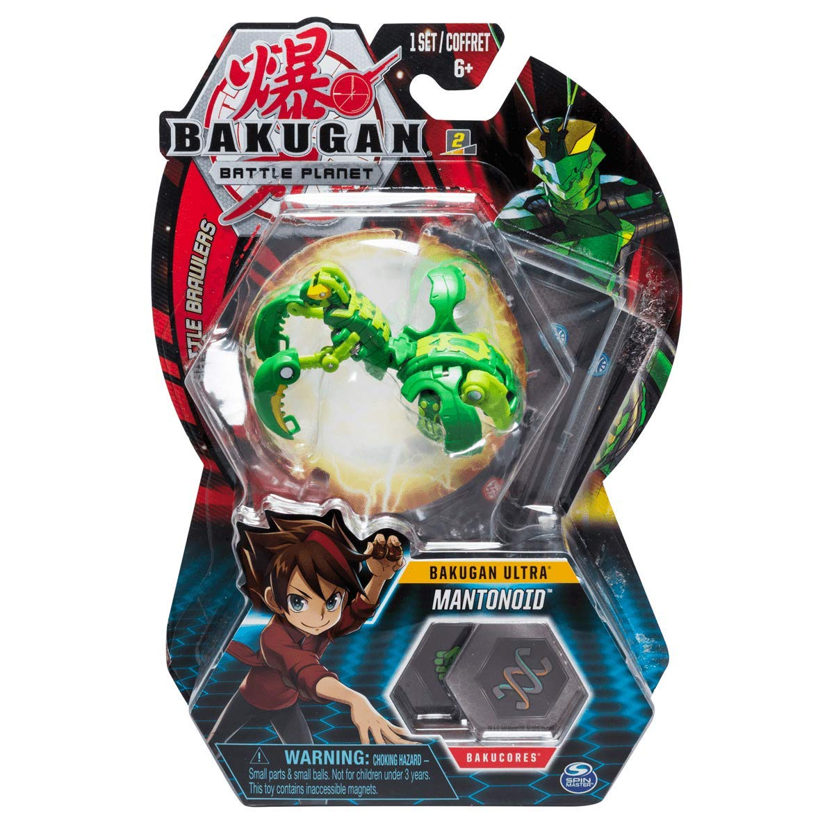 Mantonoid BAKUGAN Pack avec Figurine Ultra 8cm