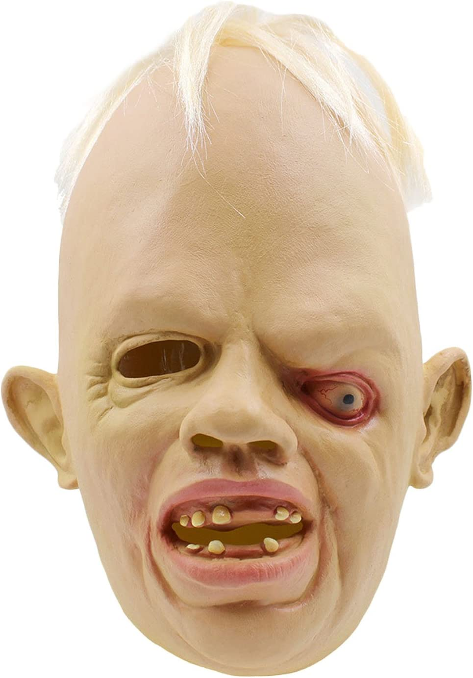 Kangkang@ Horrible Scary Disgusted Deformed Adult Full Head Face Breathable Mask Halloween Cosplay Dress Party Costume Accessories