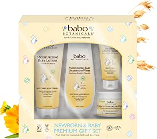 product image for Babo Botanicals Newborn & Baby Premium Giftset with Pure Oatmilk Calendula, Hypoallergenic - 4-Pack