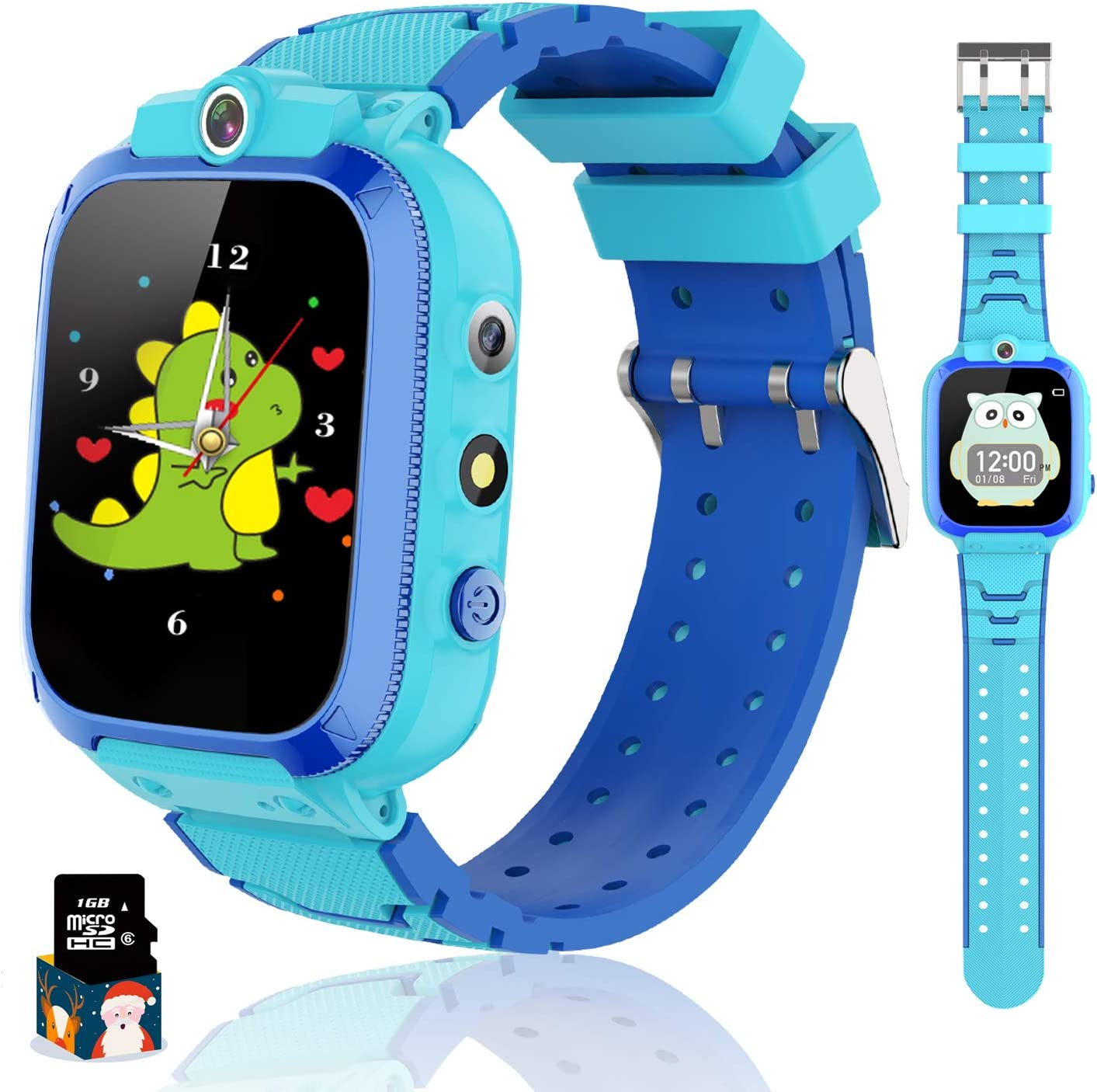 Themoemoe Kids Smart Watch for Boys Girls, Kids Music Watch Touch Screen with Dual Cameras 14 Games Pedometer Sport Alarm Clock Flashlight, Kids Watch for Childern Birthday Gifts 3-12(Blue)