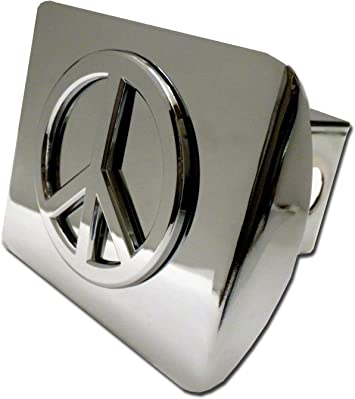 Custom Hitch Covers 12052-Chrome Peace Sign Hitch Cover 2