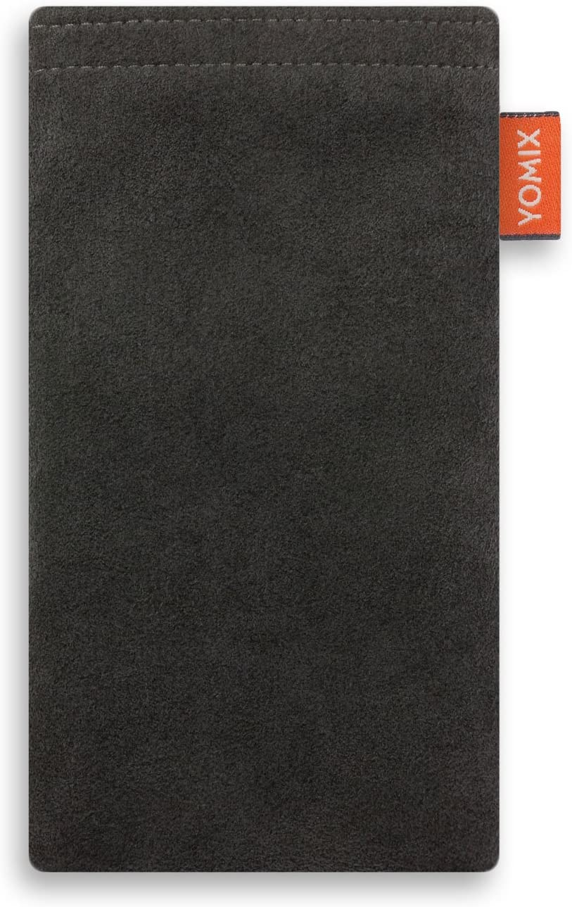 YOMIX Emma mit Strahlenschutz Handytasche Tasche f/ür Huawei P20 Pro aus beschichteter Baumwolle mit Microfaserinnenfutter Made in Germany H/ülle mit Reinigungsfunktion