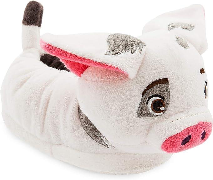 Disney Pua Slippers for Kids - Moana,White,5/6 TODLR best kids' slippers