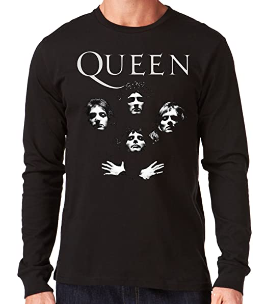 35mm - Camiseta Hombre Manga Larga - Queen - Group - Long Sleeve Man Shirt: Amazon.es: Ropa y accesorios