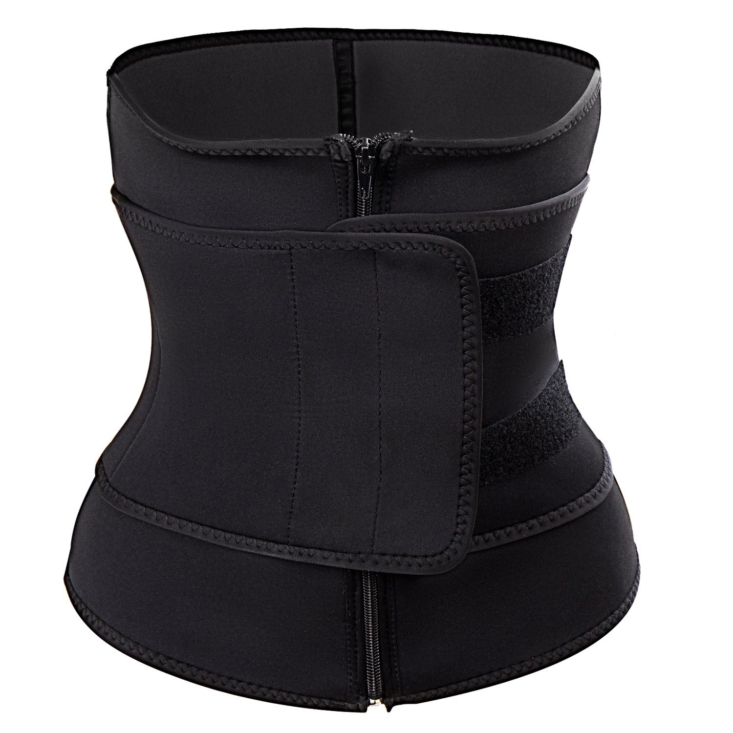 03a646bfe2a KIWI RATA Abdominal Belt High Compression Zipper Neoprene Waist Trainer  Cincher Corset Body Fajas Sweat at Amazon Women s Clothing store