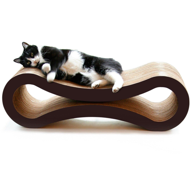 Walnut Brown D&C Infinity Scratcher and Lounge Deluxe Cat Scratcher