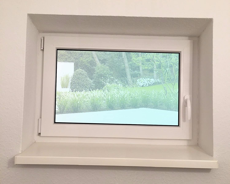 Fenster Kellerfenster BxH: 80 x 40 cm wei/ß Lagerware Kunststoff DIN links- 2-fach-Verglasung Wunschma/ße ohne Aufpreis