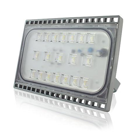Faretto Da Esterno E Interno 50w Led Faro A Luce Ultra Sottile Di Peso Leggero Proiettore Per Esterni Impermeabile Ip65 Per Illuminazione Bianco Caldo
