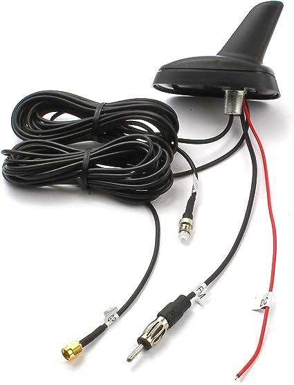 Watermark Aleta de tiburón Antena de Techo de Coche Radio DIN GPS ...