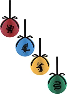 Pack de 4 de bolas de Navidad de todas las casas de Harry Potter ...