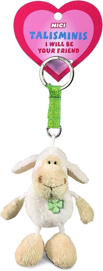 Nici 33689 Jolly Mäh Beanbag Schlüsselanhänger Talismin 7 Cm Weiß Spielzeug