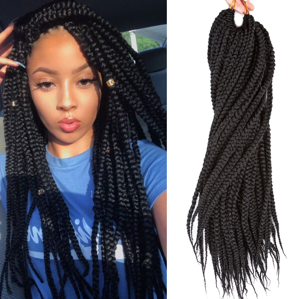 Amazon.com : VRHOT 6Packs 18\'\' Box Braids Crochet Hair Small ...