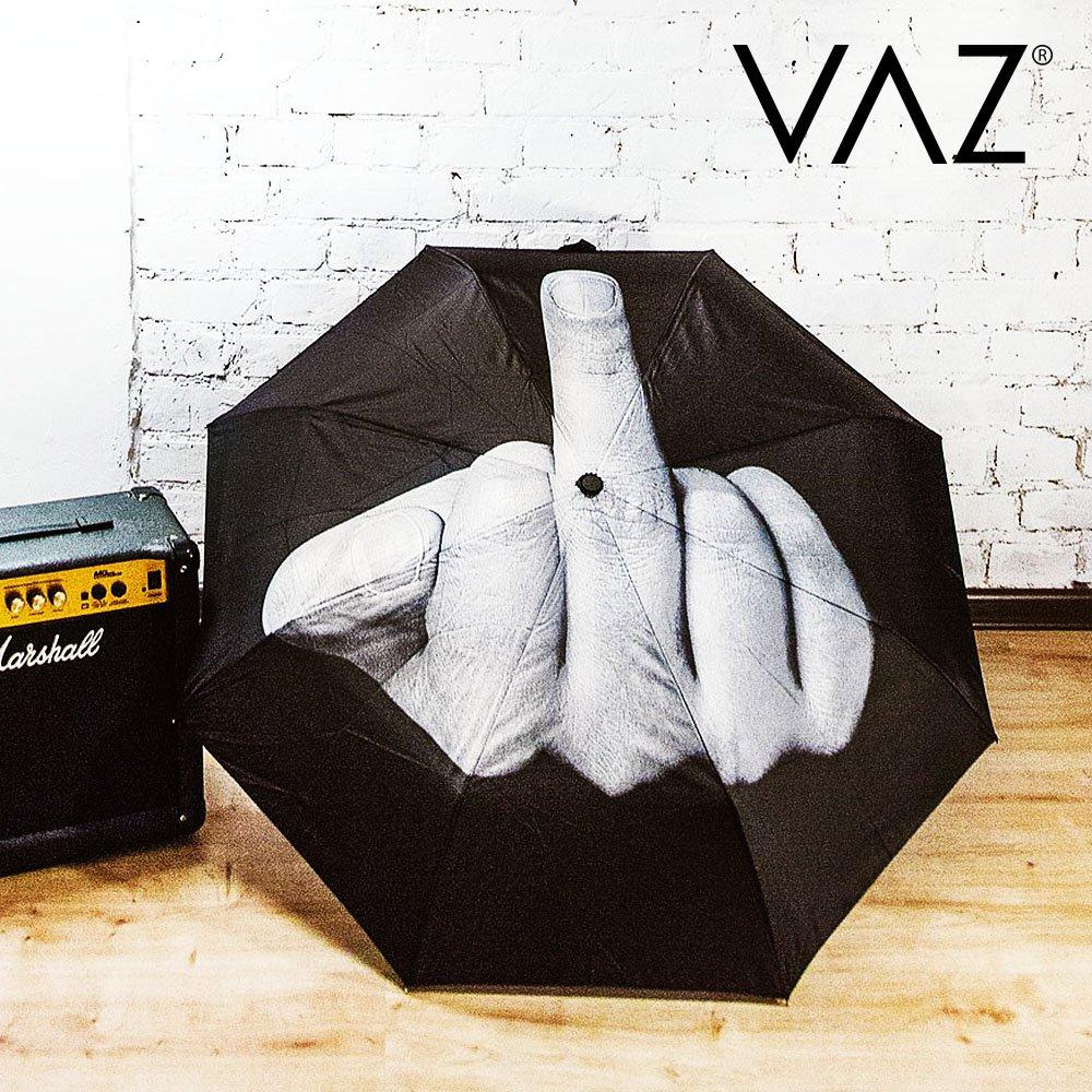 VAZ/® Parapluie Pliant Fuck the Rain Noir