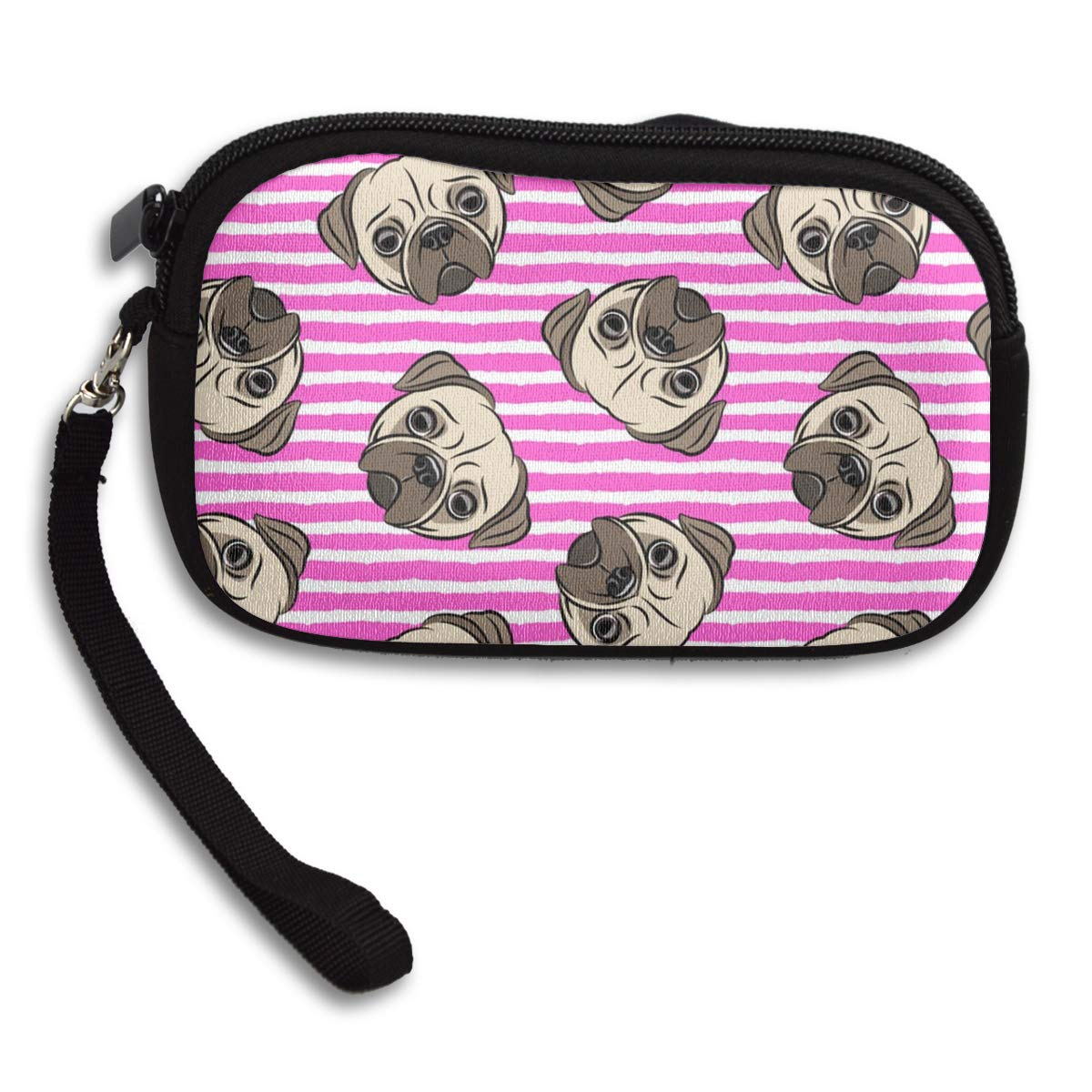 Coin Purse Pug Face Pattern Coin Pouch With Zipper,Make Up Bag,Wallet Bag Change Pouch Key Holder