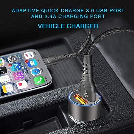 Auto Kfz Ladegerät Quick Charge 3 0 2 4a Für Samsung Elektronik