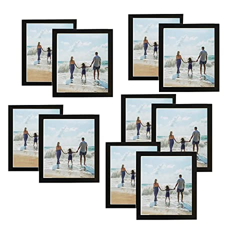Amazon.com: 10 Pack, 4x6 inch Black Picture Frame Made to Display ...