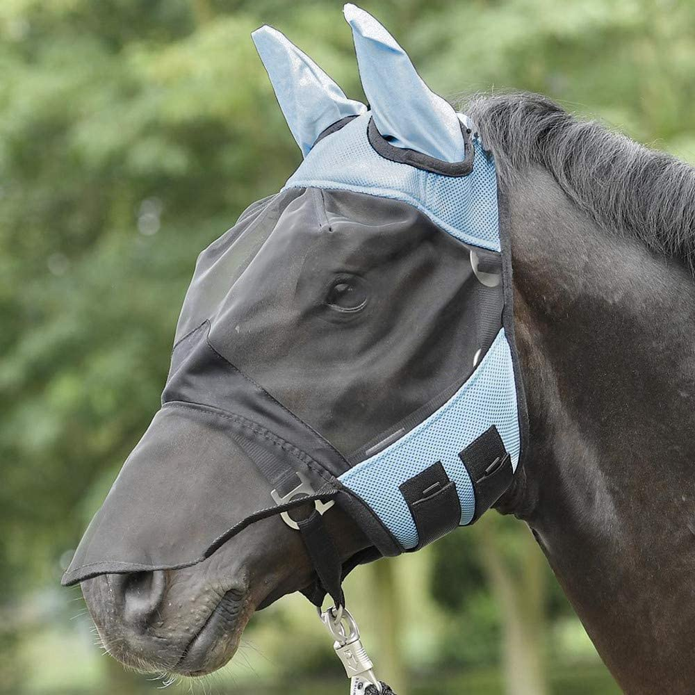 Máscara antimoscas para caballos Everline de Busse, calidad profesional