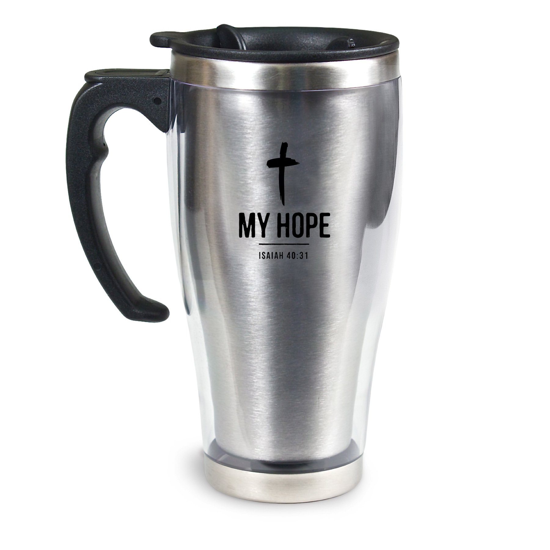 Lighthouse Christian Products My Hope Acrylic/Stainless Steel Travel Mug, 18 oz by Lighthouse Christian Products