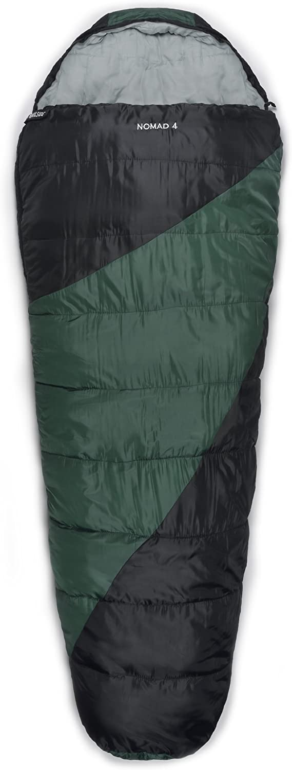 Trailside Nomad 4 Mummy Synthetic 0-Degree Sleeping Bag, Green