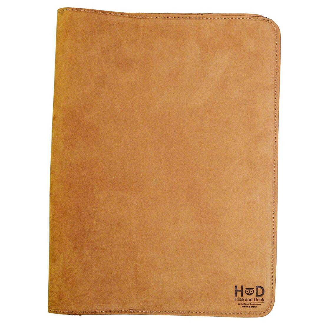 Hide & Drink, Rustic Leather Refillable Journal Cover for Moleskine Cahier XL (7.5 x 9.75 in.) Handmade Includes 101 Year Warranty :: Old Tobacco