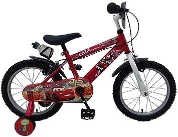 Disney Cars 16 Pulgadas - Bicicleta Infantil con 2 Rueda Delantera ...