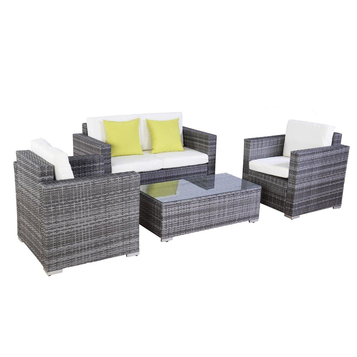 Gartenmöbel sitzgruppe rattan lounge  Poly Ratten Lounge Gartenmöbel Rattan Lounge Set Garnitur ...