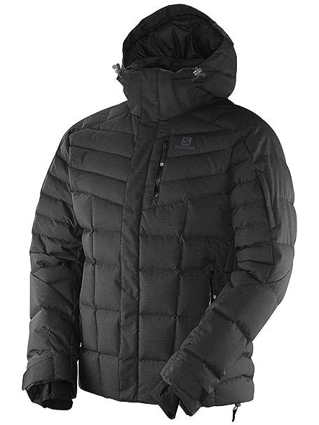 Salomon Icetown Men's Down Ski Jacket In Black