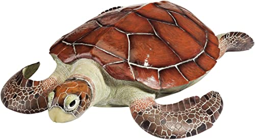 Design Toscano Flat Back Sea Turtle Statue