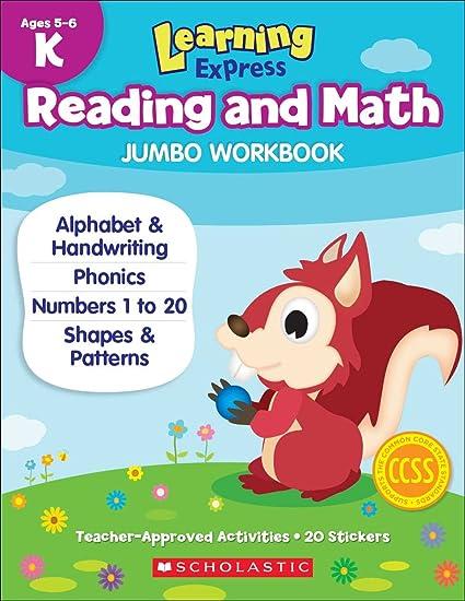Learning Express Reading and Math Jumbo Workbook Kindergarten ...