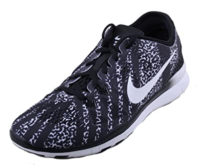 Nike Free 5.0 Tr Fit 5 Prt Womens Black/White Athletic Sneakers