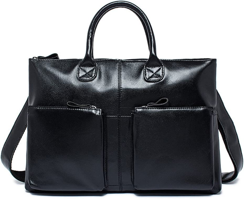 Color : Brown Shenghua1979 Mens Business Bag Mens Briefcase Leather Mens Bag Vintage Casual Tote Leather Shoulder Messenger Bag Suitable for Business Casual Business Laptop Bag