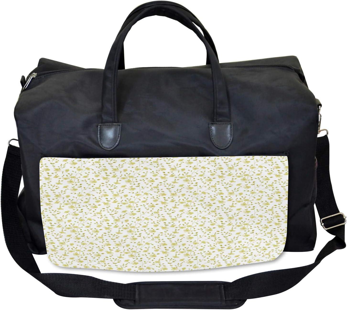 Ambesonne Summer Gym Bag Large Weekender Carry-on Floral Nature Botanical