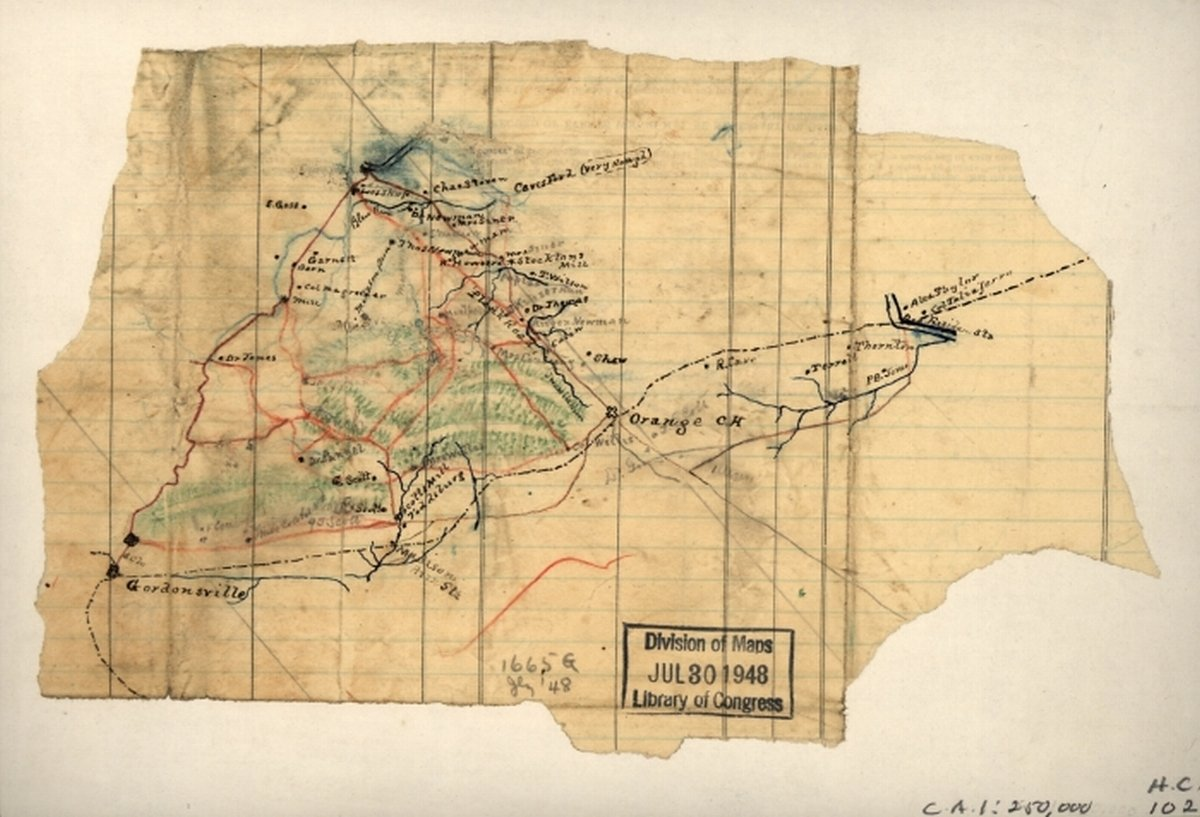 Amazon Com Vintography 1860s Civil War Map Of Orange Virginia